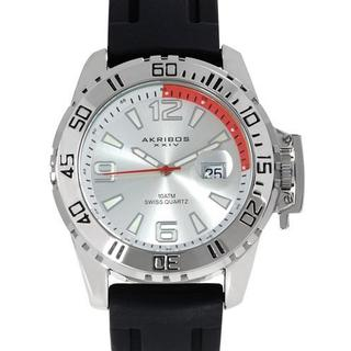Men's AK492SS Black Rubber Watch