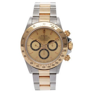 Pre-Owned Rolex Men's Oyster 16523 Two-tone Goldplated Stainless Steel Chronograph Watch