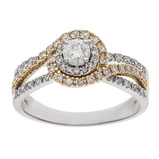 14k Two-tone Gold 3/4ct TDW Diamond Engagement Ring