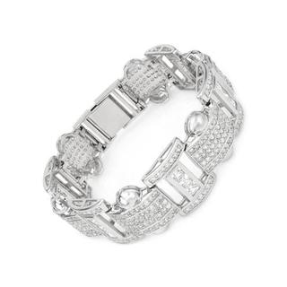 Bracelet with Cubic Zirconia in 925 Sterling Silver