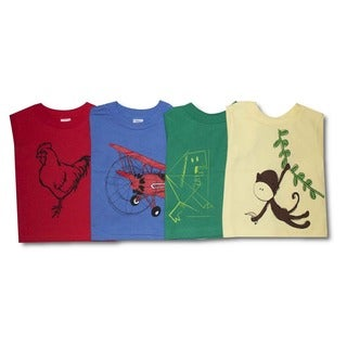 Toddler Boy Four Cotton Graphic Shirts Combo