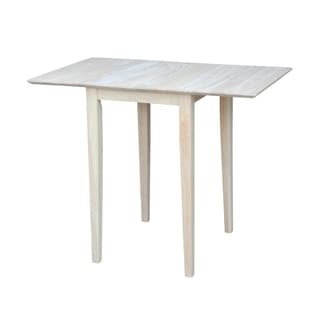 International Concepts Small Unfinished Rectangular Drop-leaf Shaker-style Dining Table