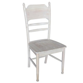 Unfinished Solid Parawood Bridgeport Side Chair (Set of 2)