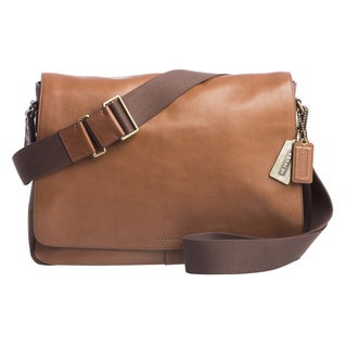 Coach 'Bleecker Legacy' Fawn Leather Courier Bag