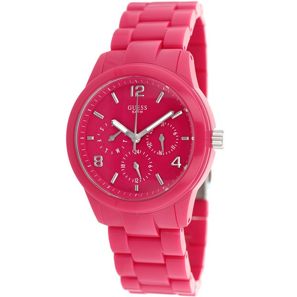 Guess Women's W11603L4 Mini Spectrum Pink Resin Watch