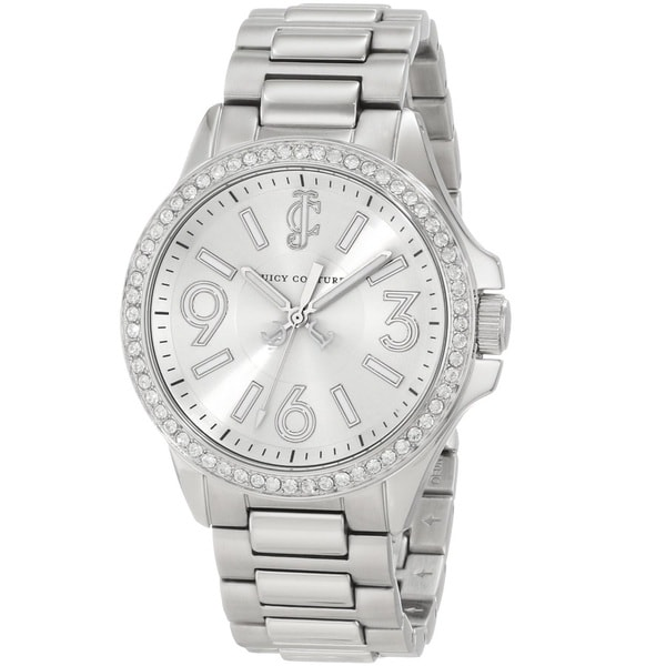 Juicy Couture Women's 1900958 Jetsetter Silvertone Bracelet Watch