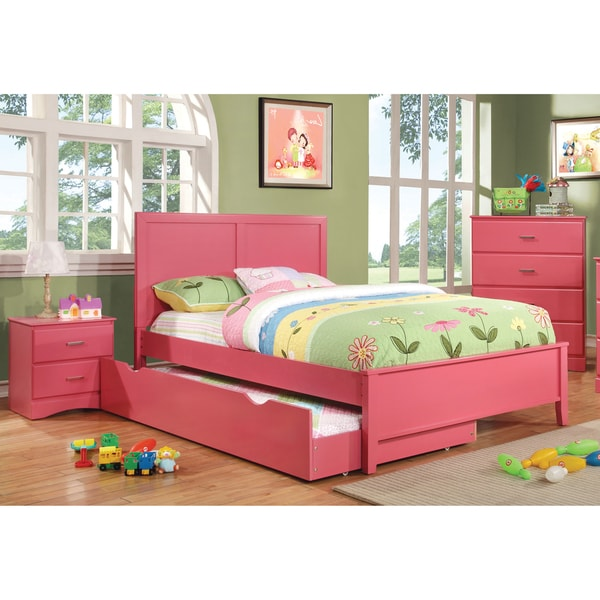furniture of america colorpop 3 piece youth bed trundle