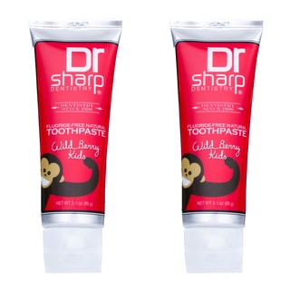 Dr. Sharp Fluoride-Free Natural Wild Berry Children's Toothpaste (Pack of 2)