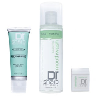 Dr. Sharp Fluoride-Free Natural Oral Care Set, Mint