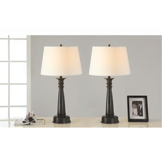 Artiva USA Classic Coordinates Antique Bronze Table Lamp (Set of 2)