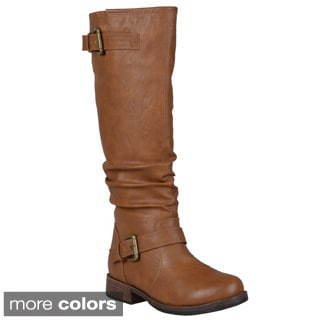 Journee Collection Women's 'Stormy' Regular and Wide-Calf Riding Boot