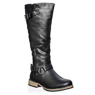 Nature Breeze Women's 'Lauren-03' Knee-high Riding Boots