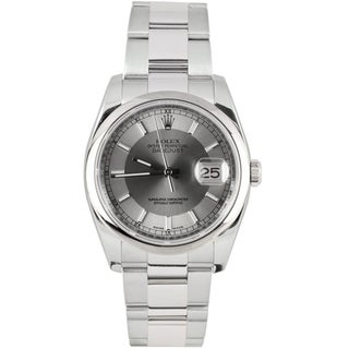 Pre-Owned Rolex Men's Datejust Stainless Steel Oyster Band Silver Tuxedo Dial Watch