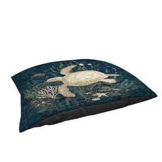 Thumbprintz Sea Turtle Vignette Large Rectangle Pet Bed