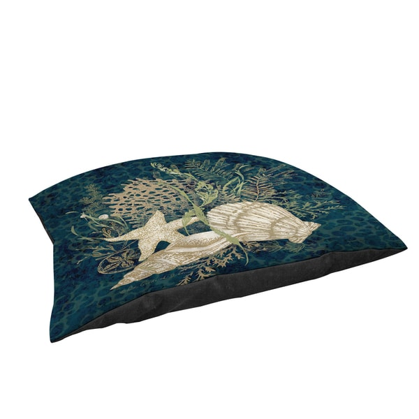 Thumbprintz Sea Shells Vignette Large Rectangle Pet Bed