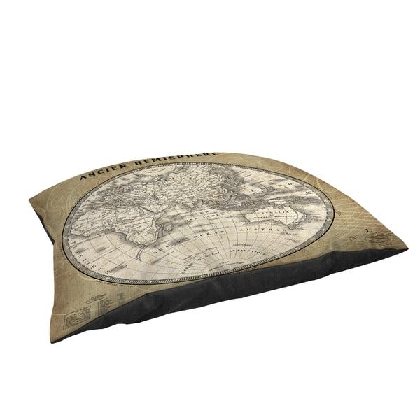 Thumbprintz French World Map II Large Rectangle Pet Bed