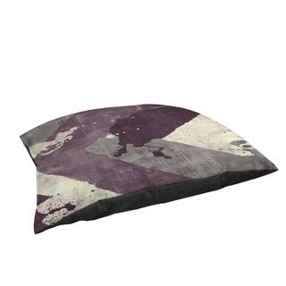Thumbprintz Splatter No I Purple Large Rectangle Pet Bed