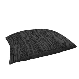 Thumbprintz Wood Grain Large Scale Black Large Rectangle Pet Bed