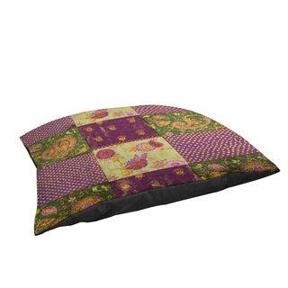 Thumbprintz Purple Paisleys and Dots Large Rectangle Pet Bed