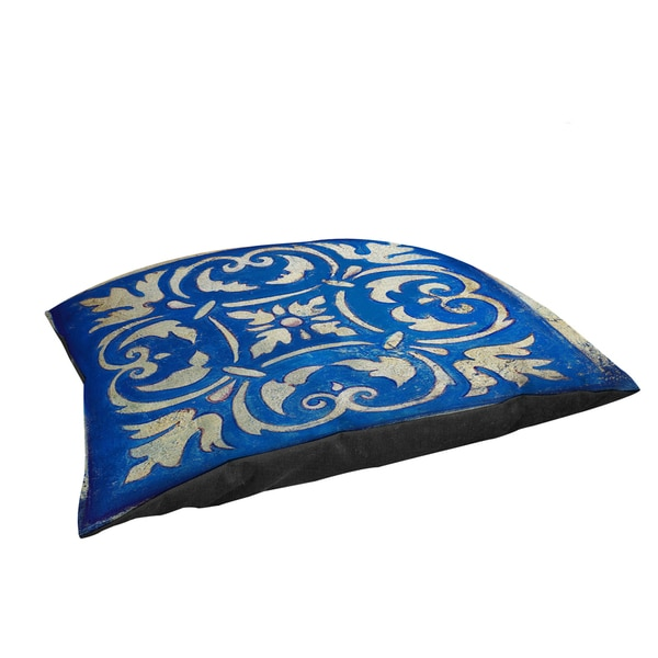 Thumbprintz Blue Mosaic Large Rectangle Pet Bed
