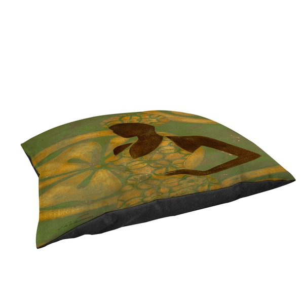 Thumbprintz Ebony Art Green Large Rectangle Pet Bed