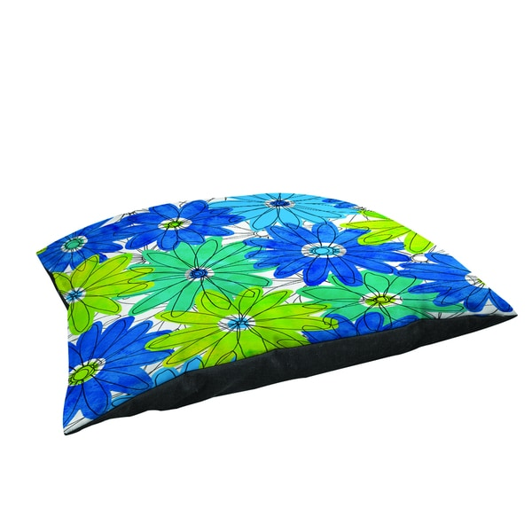 Thumbprintz Funky Florals Daisy Royal Blue Large Rectangle Pet Bed 13776844
