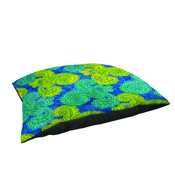 Funky Florals Paisley Royal Blue Large Rectangle Pet Bed 13776847