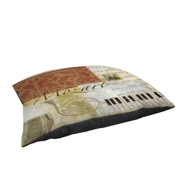 Thumbprintz Classic Composers Mozart Large Rectangle Pet Bed