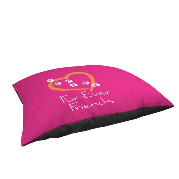 Thumbprintz Forever Friends Pink Large Rectangle Pet Bed