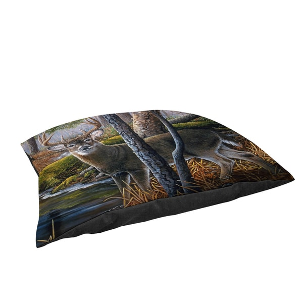 Thumbprintz Beaver Pond Buck Large Rectangle Pet Bed