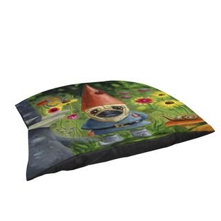 Thumbprintz Pug Gnome Large Rectangle Pet Bed