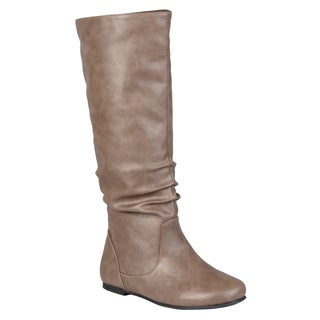 Journee Collection Women's 'Jayne' Mid-calf Slouch Riding Boots