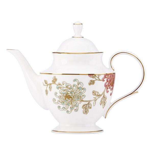 Lenox Marchesa Painted Camellia Teapot