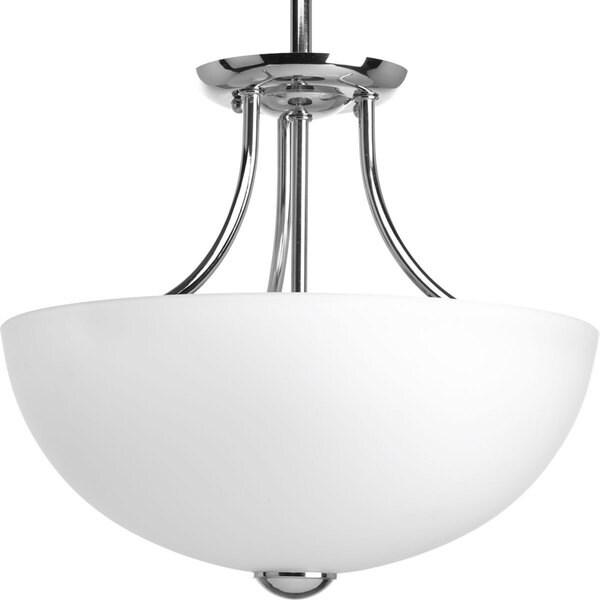 Progress Lighting Silvertone 2-light Cfl Semi-Flush Convertible With Bulb (12 Inch)