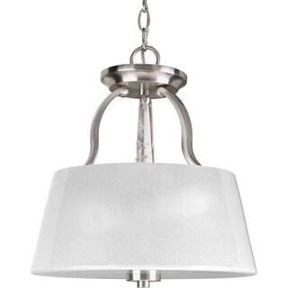 Progress Lighting Silvertone 3-light Semi-Flush