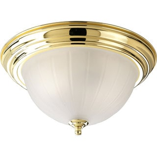 Progress Lighting Gold 3-light Semi-flush Mount Fixture