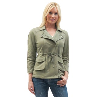 Caite Women's Fatique Green Cotton Collar Jacket
