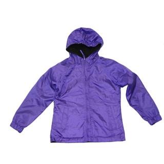 Ultimate Apparel Girl's Purple Mid-weight Fleece Reversable Jacket