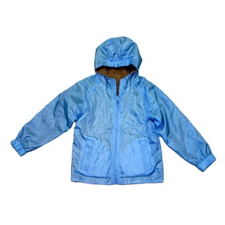 Ultimate Apparel Toddler Girl's Blue Mid-weight Fleece Reversable Jacket