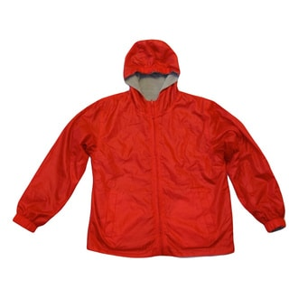 Ultimate Apparel Boy's Red Mid-weight Fleece Reversable Jacket