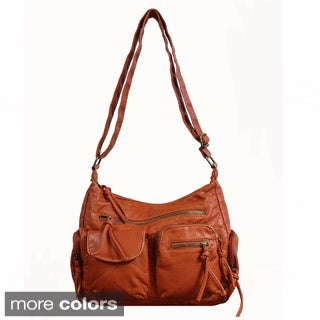 Bueno 'Jersey' Washed Medium Cross-body Handbag