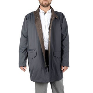 Hickey Freeman Men's Classic Navy Trench Coat