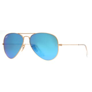 Ray Ban 'RB3025 112/17' Mirror Aviator Sunglasses
