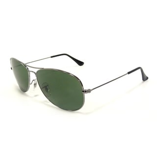 Ray-Ban Men's 'RB 3362 Cockpit' Grey/ Green Polarized Aviator Sunglasses