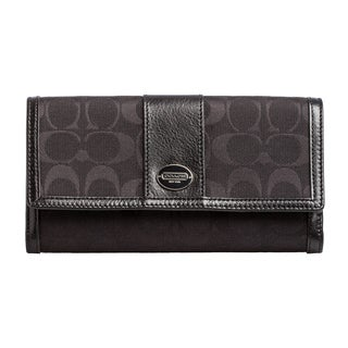 Coach 'Legacy' Signature Check Book Wallet