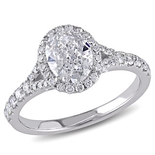 Miadora 14k White Gold 1 1/2ct TDW Diamond Engagement Ring (I-J, I1-I2)