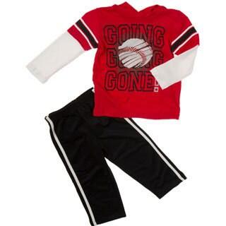 Kids Headquarters Toddler Boy 2-piece Baseball Hood Tee/ Tricot Pant