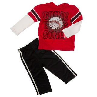 Kids Headquarters Boys 2710452020-99F-P6 (4-7x) 2-piece Baseball Tee/ Tricot Pant