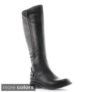DbDk Women's Denniza-3 Stud Embellished Elastic-back Riding Boots