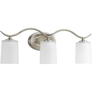 Progress Lighting Silvertone Inspire Collection 3-light Brushed Nickel Bath Light